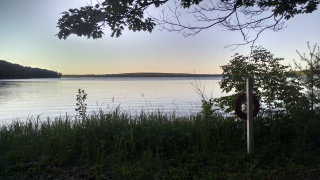 Oh yeah, I currently reside in a cabin by a lake. Aren't I cool?